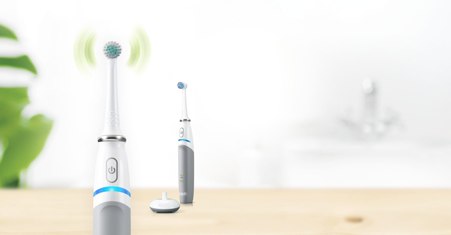 GUM PowerCARE electric toothbrush rotating head