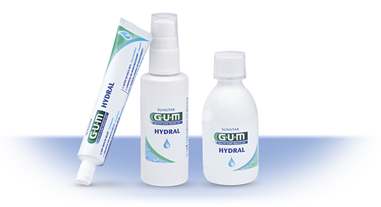 GUM Hydral Solution to alleviate dry mouth